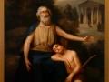 Homero, 1854, Rafael Flores, óleo sobre tela, Museo Nacional de Arte.