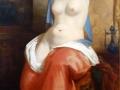 Odalisca saliendo del baño, segundo cuarto del siglo XIX, Henri Decaisne, óleo sobre tela, Museo Nacional de San Carlos.