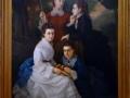 Retrato de las hijas del licenciado Manuel Cordero (en Chapultepec), 1875, Juan Cordero, óleo sobre tela, Museo Nacional de Arte.