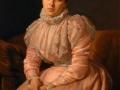 Retrato de mujer con vestido rosa, 1898, Tiburcio Sánchez de la Barquera, óleo sobre tela, colección particular.