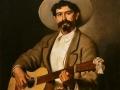 El guitarrista toluqueño, 1877, Felipe Santiago Gutiérrez, óleo sobre tela, colección privada.
